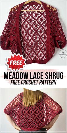crochet Meadow Lace Shrug free pattern - crochet shrug free pattern