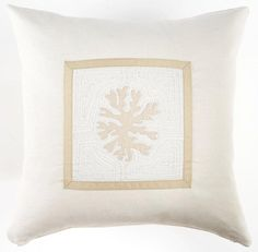 Coral Pillow by Cottage and Bungalow | http://www.cottageandbungalow.com/sd-101m.html