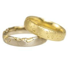 Mens Unusual Gold Wedding Ring by Polly Wales