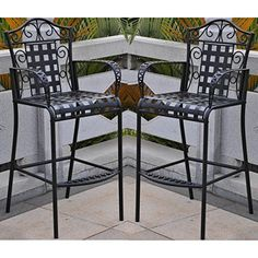 International Caravan Mandalay Outdoor Bar Stools  Set of 2 ** Visit the image link more details.(This is an Amazon affiliate link and I receive a commission for the sales)
