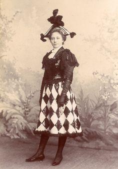French woman in fancy dress