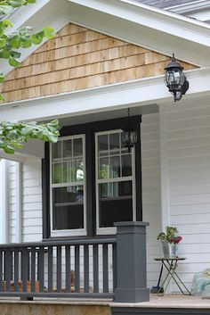 Image Result For Cedar Shake With Black Trim White Exterior Houses Cottage House