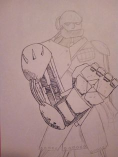 A quick amateur sketch of some sort of doomfist skin