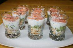Recette - Verrine de saumon au fromage blanc et concombre | 750g