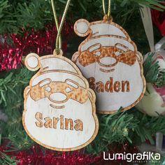 Santa Timber Name Badge (Group Order) Family Christmas, Christmas Tree, Christmas Ornaments, Name Badges, Creative Studio, Special Gifts, Christmas Stockings, Santa, Names