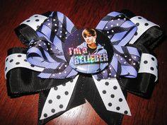 Justin Beiber bows.  Price Varies Depending on Button Used. Bows starting @ $8