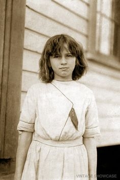 Young female cotton mill worker 8x12 by VintageShowcase on Etsy, $8.00