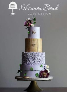 I love this design.  it mixes rustic and modern together.  very nice color combination as well.  Purple elegance