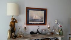 Rearranged some things in the house to take the bar feom beachy to seafaring!