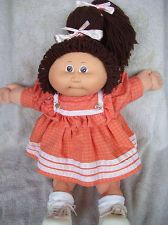 Vintage Cabbage Patch Kids CPK Doll Brown Haired Brown Eyed Girl HM1 '85 No Pox