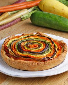 Rainbow Veggie And Pesto Tart Recipe by Tasty