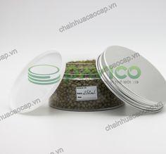 Hũ nhựa đựng thực phẩm đồ khô nắp nhôm vặn 250ml