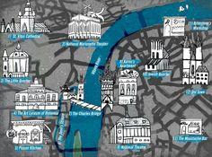 Prague map according to The Daughter of Smoke & Bone