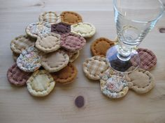 Farmhouse Decor Quilted Coasters Fabric Coasters Mug by dlf724