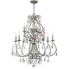 Grace never goes out of style. Ashton is a collection designed for today, tomorrow and everyday. It takes the notion of a crystal chandelier beyond traditional. Features include modern hand painted finishes in English Bronze or Olde Silver, graceful lines and updated crystal shape.
