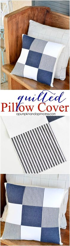 DIY Quilted Pillow Cover