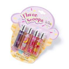 Flavor Scoops Lip Gloss Set of 4 Flavor Scoops Lip Gloss Set of 4 Hot Pink Lipsticks, White Lipstick, Green Lipstick, Lipstick Shades, Liquid Lipstick, Chapstick Lip Balm, Gloss Labial, Lip Gloss Set, Nice Lips