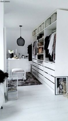 ikea pax ankleidezimmer inspiration weiss ikea pax dressing room inspiration white The post ikea pax dressing room inspiration white appeared first on Dekoration. Wardrobe Room, Wardrobe Design Bedroom, Ikea Walk In Wardrobe, Walk In Wardrobe Design, Wardrobe Storage, Storage Room, Walking Closet, Ikea Closet, Closet Bedroom