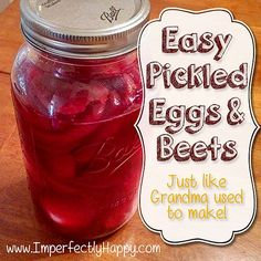 Easy Pickled Eggs & Beets - just like Grandma used to make! | by ImperfectlyHappy.com