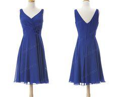 royal blue bridesmaid dress v neck bridesmaid by sofitdress, $99.00