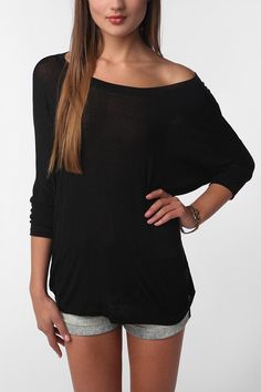 Daydreamer LA Dolman-Sleeve Tee  #UrbanOutfitters -- (in order of preference) black, mint, pink, mauve, purple