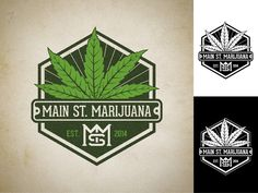 Main Street Marijuana logo. The Portland areas first, legal, retail weed store by iyank iyo
