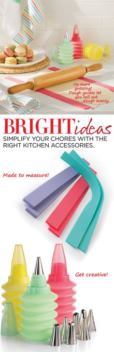 Bright ideas simplify your chores with the right kitchen accessories. Decorate like a pro. Bright Ideas, Kitchen Gadgets, Kitchen Accessories, Creative, Decor, Kitchen Fixtures, Decoration, Decorating, Cookware Accessories