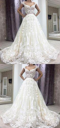 2017 wedding dresses,lace wedding dresses,unique wedding dresses,bridal gowns,princess wedding dresses @simpledress2480