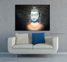 Bodhi Wriksha by Manish Verma on Artflute.com #spiritual #paintings #art #divine #homedecor #happywalls #Buddha #peace #tranquility #Nirvana #meditation #goodluck #homedecor #art #wall #NoMoreEmptyWalls