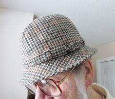 Tweed Fedora Hat Men's Brown Pure New Wool Size 59 71/4 by Collectique, $23.00