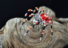 Large Orange Creme Swirl Twisted Spider  (Twisted Spiders are a patented design. U.S. Patent D0629471)