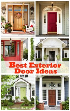 Our front door makeover begins + a roundup of the best exterior door ideas to add instant curb appeal. Four Generations One Roof - House Designs Exterior Front Door Porch, Front Door Decor, Front Doors, Front Entry, Garage Doors, Exterior Design, Interior And Exterior, Cafe Exterior, Grey Exterior