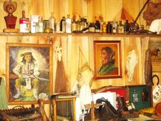 We have some great orig. Indian paintings and other artifacts and a large glass display case full of many items
