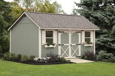Considering a garden shed? Thinking about building it yourself? Then before you embark on your project make sure you have a reliable shed plan for the design you have in mind. Building your own shed can without doubt cut costs but Backyard Sheds, Outdoor Sheds, Garden Sheds, Shed Building Plans, Shed Plans, Cabin Plans, Building Ideas, Shed Conversion Ideas, Shed Cabin