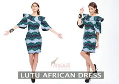 LUTU African Dress The Women's African dress is made from blends of Ankara and cotton fabric.   #womensfashion #africanfashion #africandress