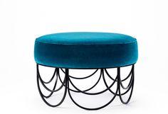 Pouf / Arches of Kullaro Furniture Inspiration, Furniture Ideas, Living Room Interior, Interior Livingroom, Arches, Stool, Art Deco, Design, Home Decor