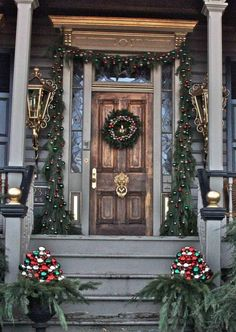 Elegant Christmas Front Porch