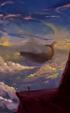whale in clouds - classic =) by eltowergo on DeviantArt Whale, Clouds, Deviantart, Classic, Painting, Scenery, Derby, Whales, Painting Art