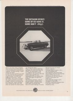 1965 MG Advertisement Austin Healey 60s 65 Sportscar Sports Car Octagon Spirit Convertible Dealership Garage Shop Wall Art Decor by fromjanet on Etsy https://www.etsy.com/listing/202539670/1965-mg-advertisement-austin-healey-60s