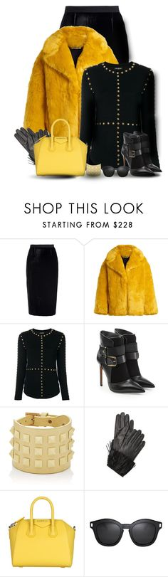 """Faux Fur in The Office"" by oribeauty-cosmeticos ❤ liked on Polyvore featuring Roland Mouret, Diane Von Furstenberg, Balmain, Valentino and Givenchy"