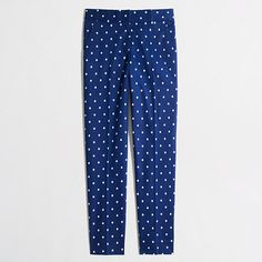 These are perfect for work, or just cute for spring. // J. Crew Factory skimmer pant in polka dot