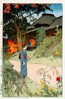 Hundred Flower Garden  by Hiroshi Yoshida, 1926