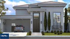 House Paint Exterior, Dream House Exterior, Exterior Design, Narrow House Designs, Modern House Facades, My House Plans, Village Houses, House Entrance, Facade Architecture