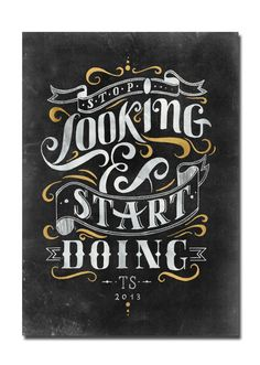 Letterings I by Tobias Saul, via Behance