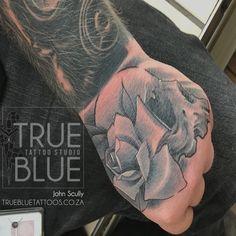 One in Hand - True Blue Professional Tattoo Studio True Tattoo, Professional Tattoo, Scully, Tattoo Studio, Hands, Portrait, Tattoos, Blue, Tatuajes