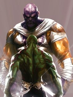 Annihilation - Thanos and Drax by Gabriele Dell'Otto