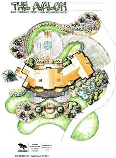Quick And Easy Landscaping On A Budget - House Garden Landscape Landscape Architecture Drawing, Landscape Sketch, Landscape Design Plans, Garden Design Plans, Landscape Drawings, Poket Park, Photomontage, Planer, Playground