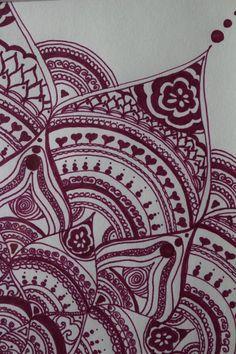 Original Hand Drawn Mandala: Ink on Recycled by yourhomemadezen