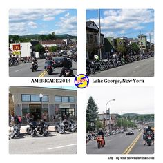 5 days of great fun and good weather at Americade 2014 in Lake George, NY! Sound Of Thunder, Adirondack Mountains, Lake George, Day Trip, Small Towns, Street View, Weather, Fun, Travel