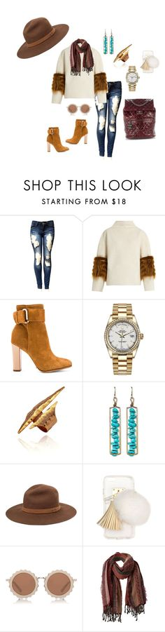 """""""Untitled #950"""" by steflsamour ❤ liked on Polyvore featuring Saks Potts, Schutz, Rolex, Natasha Accessories, rag & bone, Ashlyn'd, House of Holland, prAna and Chanel"""